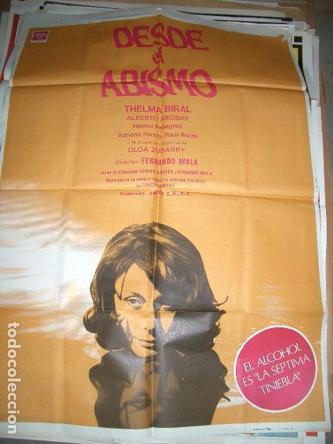 PÓSTER DE CINE ORIGINAL 70X100CM DESDE EL ABISMO (Cine- Posters y Carteles - Drama)