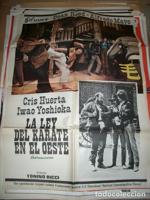 PÓSTER ORIGINAL DE 70X100CM LA LEY DEL KARATE EN EL OESTE (Cine - Posters y Carteles - Westerns)