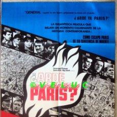 Cine: ARDE PARIS? POSTER ORIGINAL ESTRENO ESPAÑA 1966. Lote 33626813