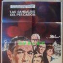 Cine: LAS SANDALIAS DEL PESCADOR. POSTER ORIGINAL ESTRENO ESPAÑA 1968. 70X100. Lote 33729810