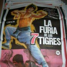 Cine: PÓSTER DE CINE ORIGINAL 70X100CM LA FURIA DE LOS SIETE TIGRES. Lote 64147991