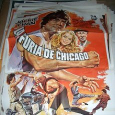 Cine: PÓSTER DE CINE ORIGINAL 70X100CM LA FURIA DE CHICAGO CON JACKIE CHAN. Lote 64148779