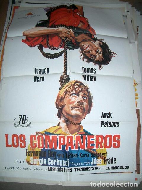 PÓSTER DE CINE ORIGINAL 70X100CM LOS COMPAÑEROS (Cine - Posters y Carteles - Westerns)