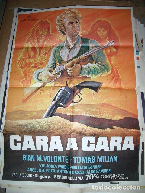 PÓSTER DE CINE ORIGINAL 70X100CM CARA A CARA (Cine - Posters y Carteles - Westerns)