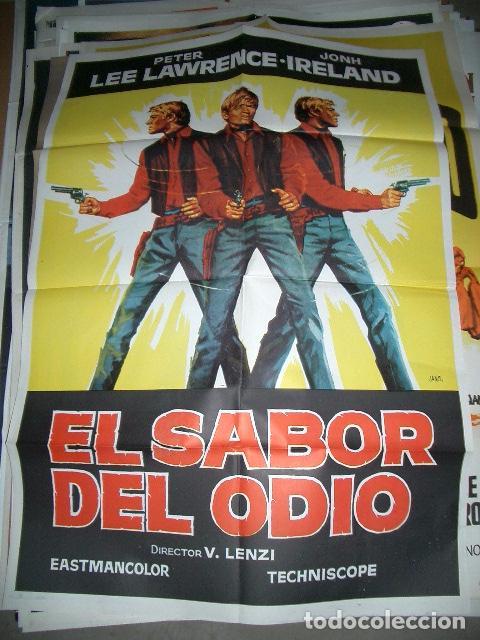 PÓSTER DE CINE ORIGINAL 70X100CM EL SABOR DEL ODIO (Cine - Posters y Carteles - Westerns)