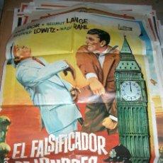 Cine: PÓSTER DE CINE ORIGINAL 70X100CM EL FALSIFICADOR DE LONDRES. Lote 64181955