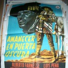 Cine: PÓSTER DE CINE ORIGINAL 70X100CM AMANECER EN PUERTA OSCURA. Lote 195454998