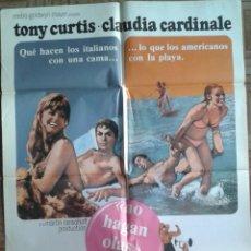 Cine: NO HAGAN OLAS. POSTER 70X100. TONY CURTIS, CLAUDIA CARDINALE, SHARON TATE. Lote 64208527