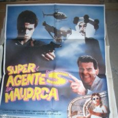 Cine: PÓSTER DE CINE ORIGINAL 70X100CM SUPER AGENTE EN MALLORCA. Lote 64520383
