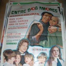 Cine: POSTER ORIGINAL DE CINE 70X100CM ENTRE DOS AMORES, CON MANOLO ESCOBAR. Lote 64521123