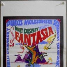 Cinema: XE54 FANTASIA WALT DISNEY MICKEY MOUSE STOKOWSKI POSTER ORIGINAL 36X55 BELGA. Lote 64590079