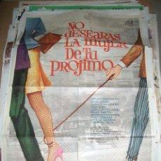 Cine: PÓSTER ORIGINAL DE 70X100CM DE NO DESEARAS LA MUJER DE TU PRÓJIMO. 1968. LAZAGA PEDRO. Lote 64601923
