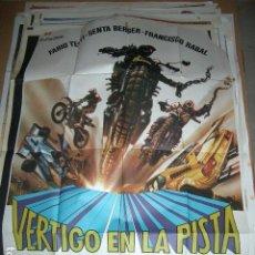 Cine: PÓSTER ORIGINAL DE CINE 70X100CM VERTIGO EN LA PISTA. FABIO TESTI, SENTA BERGER, FRANCISCO RABAL. Lote 64619103