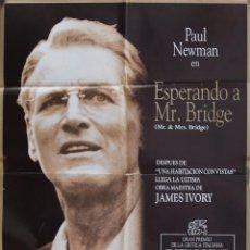Cine: CARTEL DE CINE ESPERANDO A MR. BRIDGE 1990 70*100. Lote 64655051