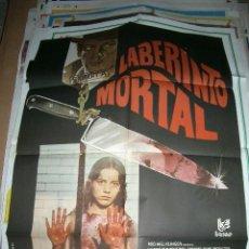 Cine: PÓSTER ORIGINAL DE 70X100CM DE LABERINTO MORTAL. Lote 64692003