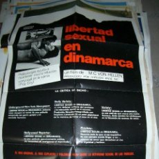 Cine: PÓSTER ORIGINAL DE 70X100CM DE LIBERTAD SEXUAL EN DINAMARCA. Lote 64692883