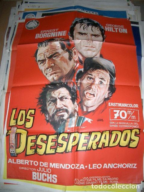 PÓSTER ORIGINAL DE 70X100CM DE LOS DESESPERADOS, DE 1969 (Cine - Posters y Carteles - Westerns)