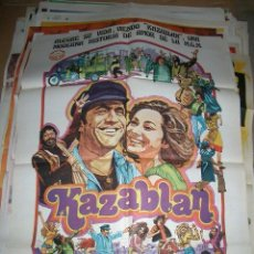 Cine: PÓSTER DE CINE ORIGINAL 70X100CM KAZABLAN. Lote 64799199