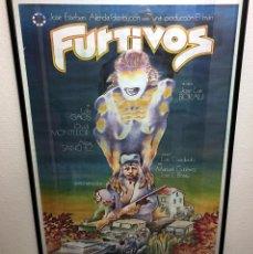 Cine: FURTIVOS / CARTEL DE IVAN ZULUETA JOSE LUIS BORAU / ORIGINAL ENMARCADO OVIDI MONTLLOR ALICIA SANCHEZ. Lote 64896467