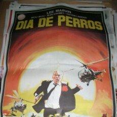 Cine: PÓSTER DE CINE ORIGINAL 70X100CM DÍA DE PERROS, CON LEE MARVIN. Lote 64899759