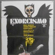Cine: XE68D EXORCISMO PAUL NASCHY TERROR POSTER ORIGINAL 70X100 ESTRENO. Lote 65250399
