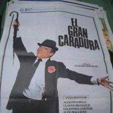 Cine: POSTER ORIGINAL DE CINE 70X100CM EL GRAN CARADURA. Lote 65497634