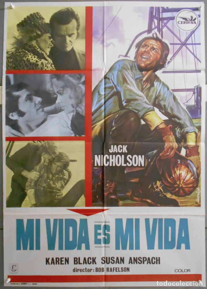 XE87 MI VIDA ES MI VIDA JACK NICHOLSON POSTER ORIGINAL 70X100 ESTRENO (Cine- Posters y Carteles - Drama)