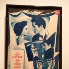 Cine: CUADRITO -20*30- TRES AMORES - KIRK DOUGLAS - PIER ANGELI - LESLIE CARON. Lote 65815122