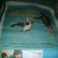 Cine: PÓSTER ORIGINAL DE CINE 70X100CM MI AMIGO EL CAPITÁN. Lote 65815854