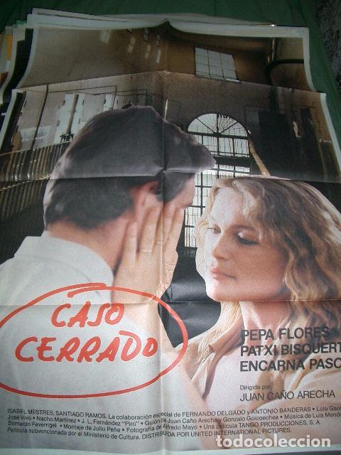 Póster original de cine 70x100cm CASO CERRADO,PEPA FLORES, PATXI BISQUERT