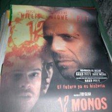 Cine: PÓSTER DE CINE ORIGINAL 70X100CM 12 MONOS, ORIGINAL SIN DOBLAR. Lote 211458072