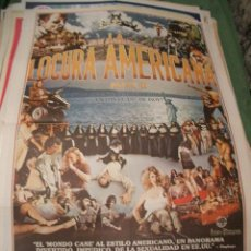 Cine: POSTER ORIGINAL DE CINE 70X100CM LA LOCURA AMERICANA. Lote 65903758