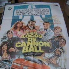 Cine: PÓSTER ORIGINAL DE CINE 70X100CM LOS LOCOS DEL CANNONBALL. Lote 68263445