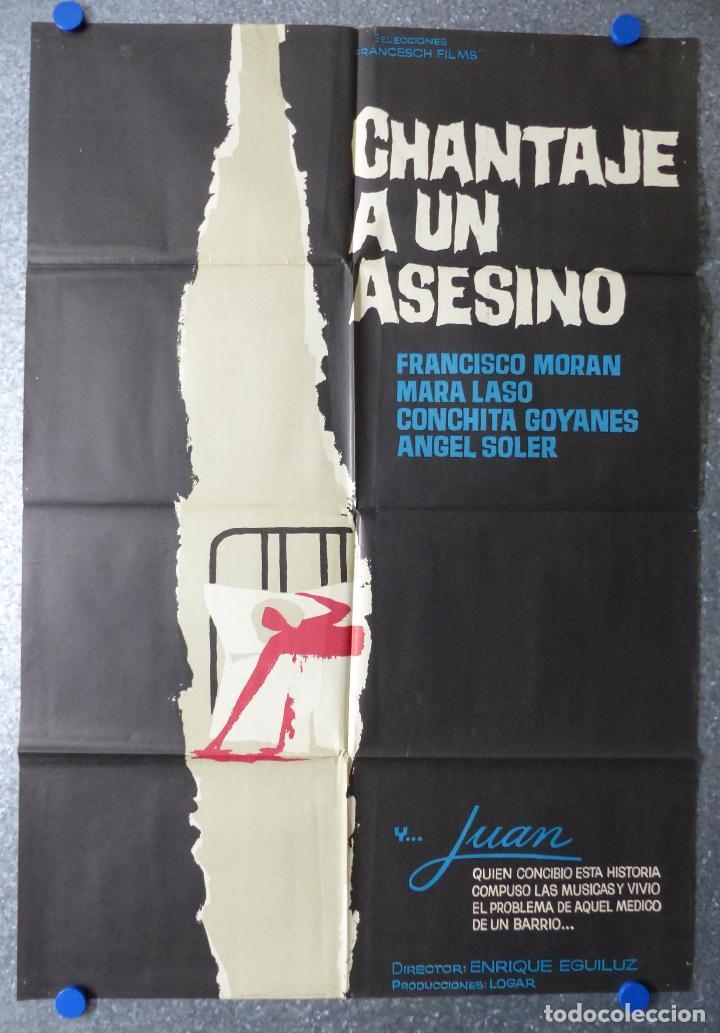 CHANTAJE A UN ASESINO - FRANCISCO MORAN, MARA LASO, CONCHITA GOYANES - AÑO 1966 (Cine - Posters y Carteles - Terror)