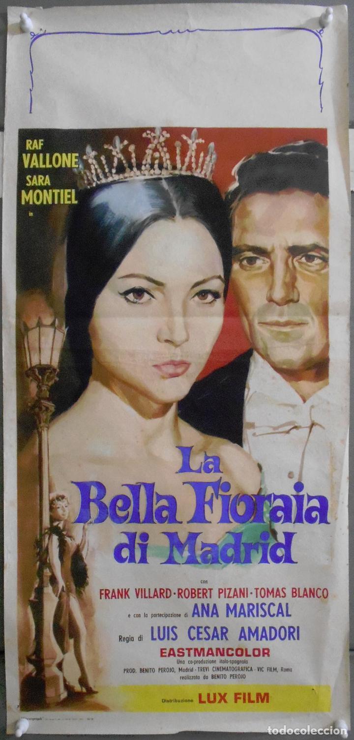 XF30 LA VIOLETERA SARA MONTIEL MADRID POSTER ORIGINAL ITALIANO 33X70 (Cine - Posters y Carteles - Clasico Español)