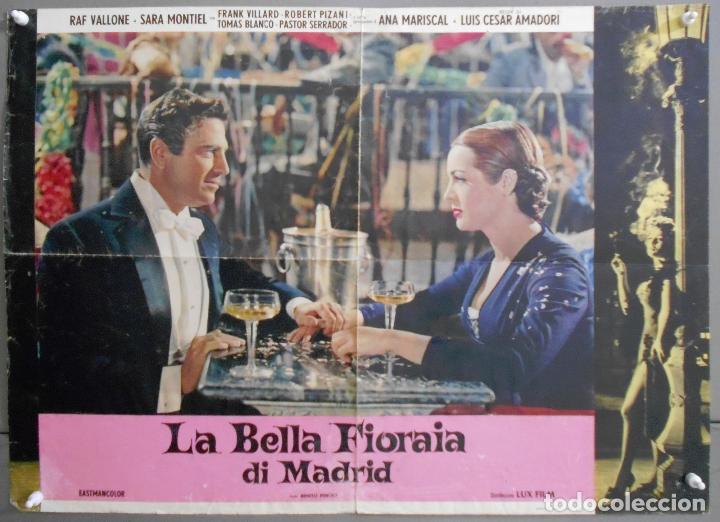 XG35 LA VIOLETERA SARA MONTIEL MADRID POSTER ORIGINAL ITALIANO 47X68 (Cine - Posters y Carteles - Clasico Español)