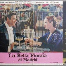 Cine: XG35 LA VIOLETERA SARA MONTIEL MADRID POSTER ORIGINAL ITALIANO 47X68. Lote 66741126