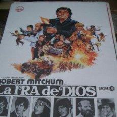 Cine: POSTER ORIGINAL DE 70X100CM LA IRA DE DIOS CON ROBERT MITCHUM. Lote 66759162