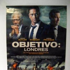 Cine: OBJETIVO: LONDRES (2016) GERARD BUTLER, MORGAN FREEMAN CARTEL ORIGINAL DE LA PELÍCULA NUEVO. Lote 66850394