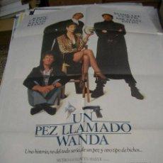 Cine: PÓSTER DE CINE ORIGINAL 70X100CM UN PEZ LLAMADO WANDA. Lote 66959510