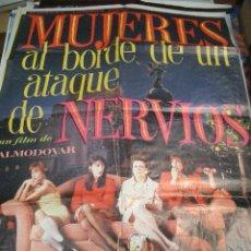 Cine: PÓSTER DE CINE ORIGINAL 70X100CM MUJERES AL BORDE DE UN ATAQUE DE NERVIOS, ALMODOVAR. Lote 66959638