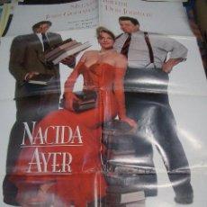 Cine: PÓSTER DE CINE ORIGINAL 70X100CM NACIDA AYER CON MELANY GRIFITH. Lote 66959682