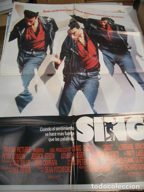 PÓSTER DE CINE ORIGINAL 70X100CM SING (Cine - Posters y Carteles - Musicales)