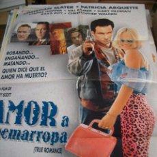 Cine: PÓSTER DE CINE ORIGINAL AMOR A QUEMARROPA GUIÓN DE QUENTIN TARANTINO. Lote 66961882