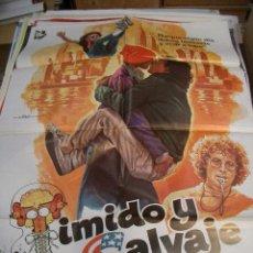Cine: PÓSTER DE CINE ORIGINAL TÍMIDO Y SALVAJE. Lote 66962026