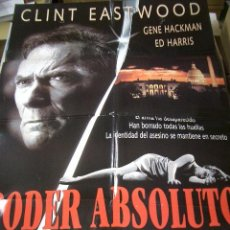 Cine: PÓSTER DE CINE ORIGINAL PODER ABSOLUTO,CLINT EASTWOOD, GENE HACKMAN, ED HARRIS, LAURA LINNEY, JUDY D. Lote 66962882