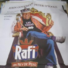 Cine: PÓSTER DE CINE ORIGINAL RAFI UN REY DE PESO. Lote 66963034