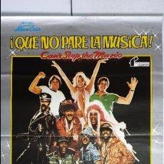 Cine: ANTIGUO Y ORIGINAL CARTEL DE CINE 70 X 100 CM. QUE NO PARE LA MÚSICA - 1980. Lote 66965106