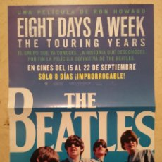 Cine: CARTEL ORIGINAL -A3- EIGHT DAYS A WEEK - THE TOURING YEARS - THE BEATLES - ALBUM - RON HOWARD. Lote 140410710