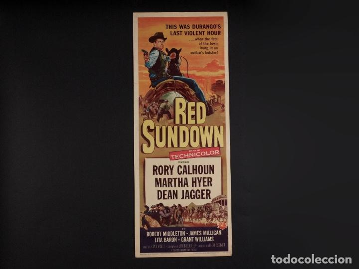 CARTEL CINE WESTERN, RED SUNDOWN, 1956 (Cine - Posters y Carteles - Westerns)
